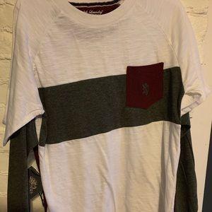 Long sleeve and short sleeve shirts